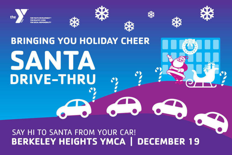 Say Hi to Santa at the Berkeley Heights YMCA Santa Drive Thru!