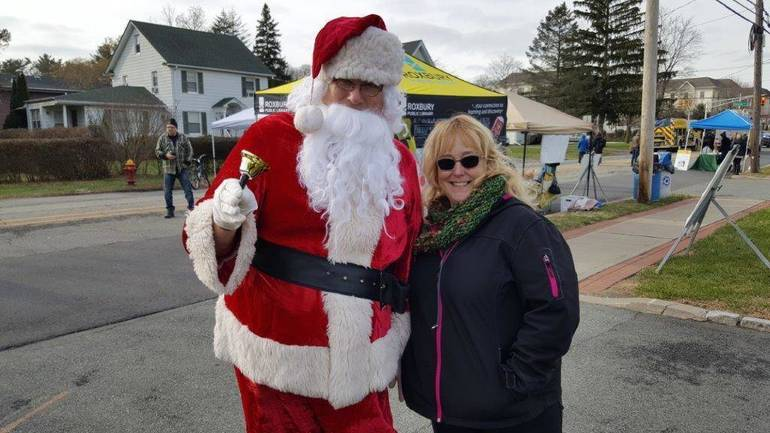 Jolly Old St. Nick and Roxbury Councilwoman Jaki Albrecht at the 2018 Home for the Holidays festival.