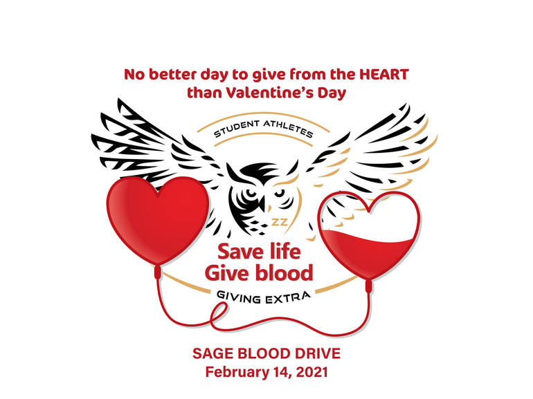 blood drive, Red Cross, Valentine's Day, SAGE