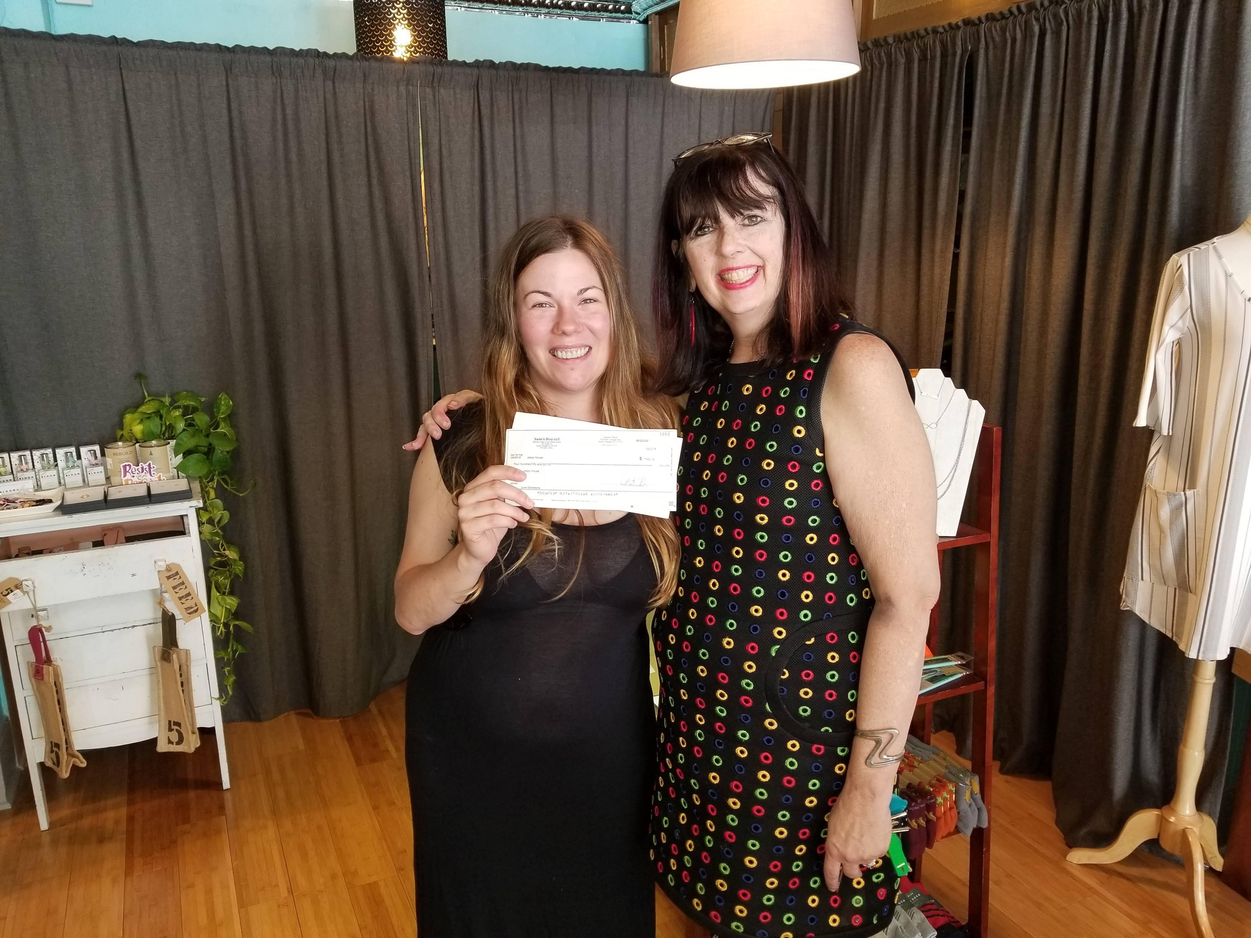 Sadie's fundraiser-June 2018-Cat Fisher and Tara Robert photo-check.jpg