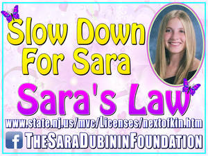 Sunday Marked the 10-Year Anniversary of Sara's Law, Named in Memory of a Sayreville Resident