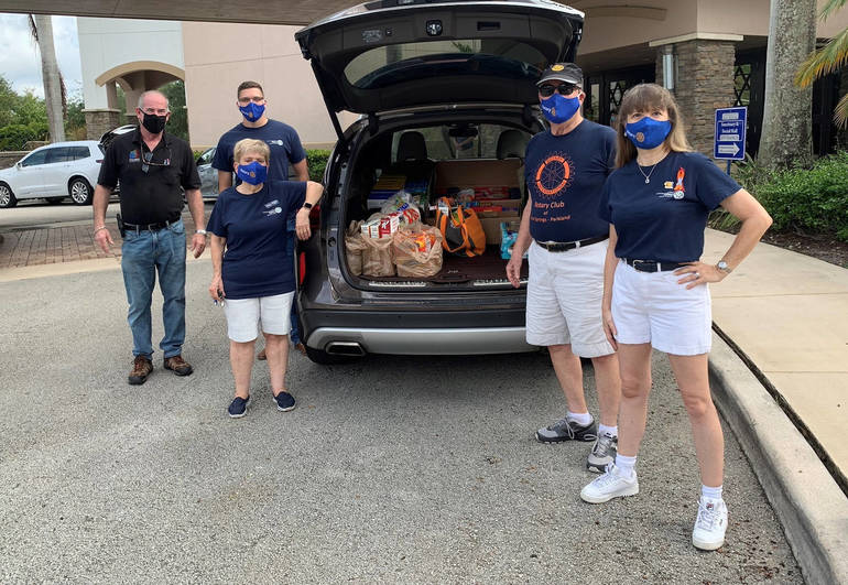Coral Springs-Parkland Rotary Club Delivers Food to Homeless