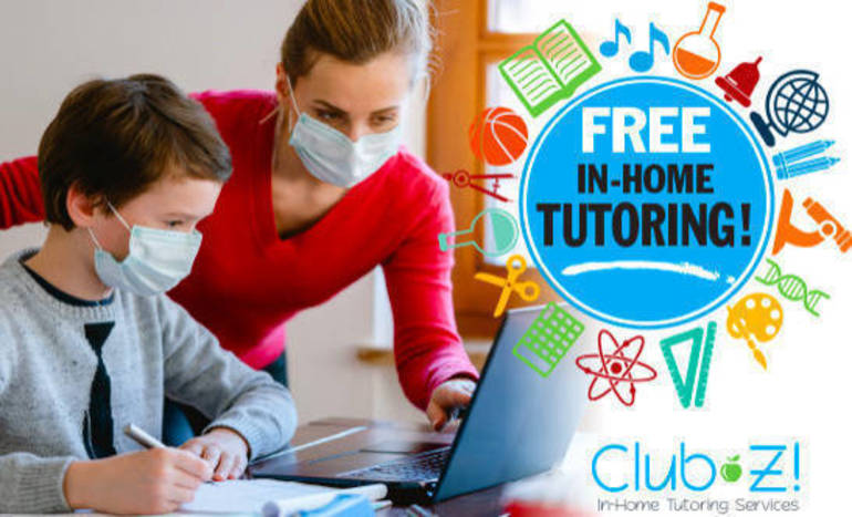 Club Z! Tutoring is Giving Away FREE Tutoring through May 31, 2021
