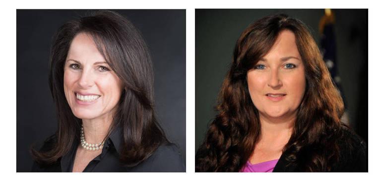 Florida Senator Tina Polsky, left, and Florida Rep. Christine Hunschofsky.
