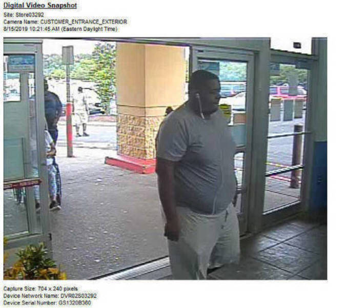 Security Footage Walmart Union Township