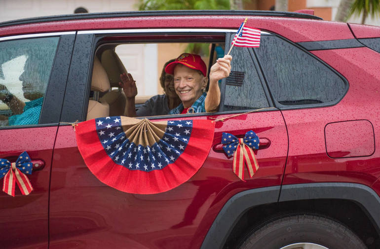 Car Parade Through Coral Springs and Parkland Paid Tribute To Veterans