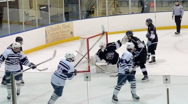 Sparta Kinnelon Jefferson Ice Hockey Drops Early Wakeup Call to Chatham After Mendham Tie