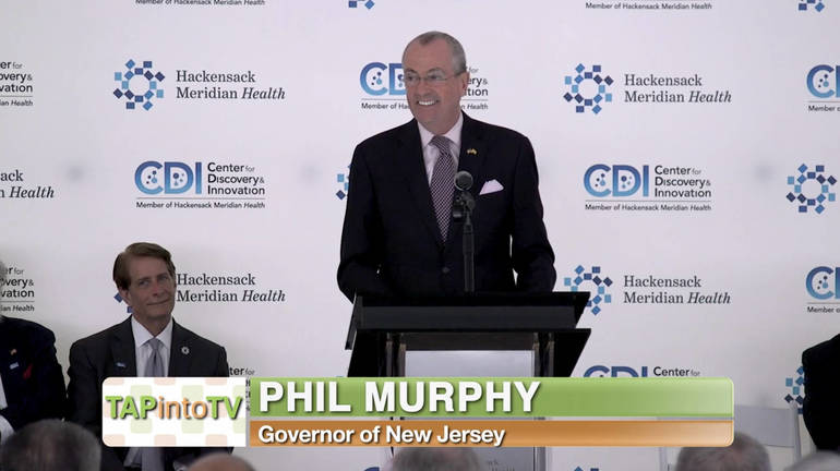 NJ Governor Phil Murphy Joins Hackensack Meridian Health Team at Center for Discovery & Innovation Ribbon-Cutting