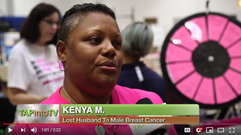Kenya Medara, Male Breast Cancer Awareness