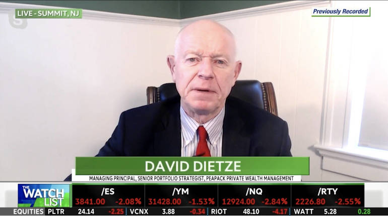 VIDEO: Peapack Private Wealth's Dietze Says Fundamentals of Economy, Market 'Getting Better Every Day'