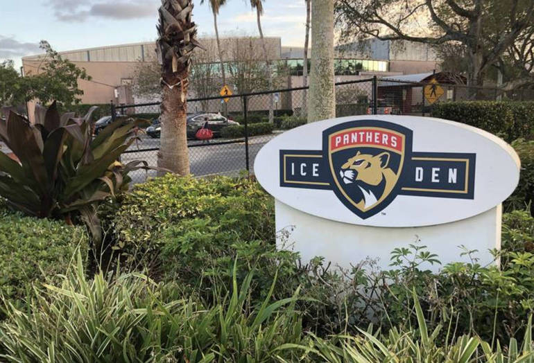 Florida Panthers IceDen at 3299 Sportsplex Drive in Coral Springs.