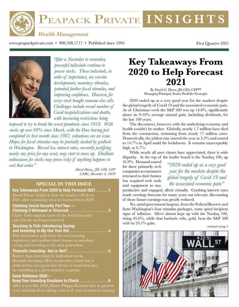 Latest Peapack Private Wealth Management Newsletter Now Available