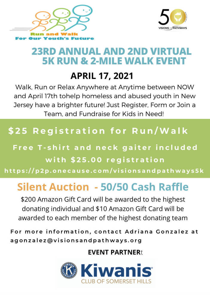 23rd Annual and 2nd Virtual 5K Run and 2 Mile Walk Event