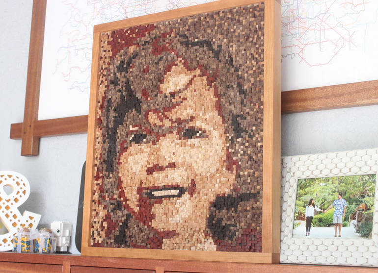 Local Woodworker Creates 7,680-Piece Mosaic Portrait of His Daughter