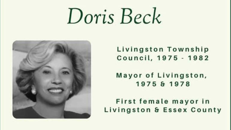 Livingston to Rename Memorial Oval Gazebo in Honor of First Female Mayor Doris Beck