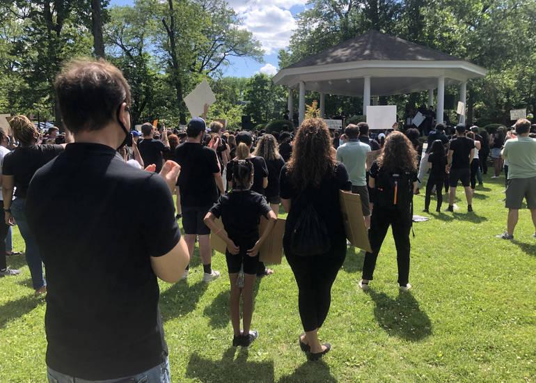 Senator Tom Kean at Westfield Black Lives Matter protest.
