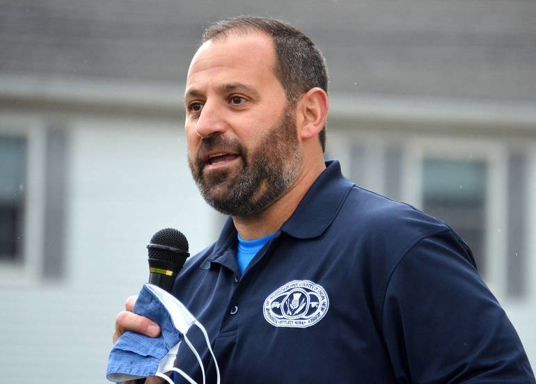 Scotch Plains Mayor Josh Losardo speaks at Stop Asian Hate Rally in Scotch Plains.png