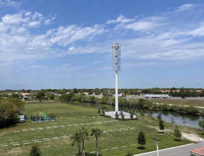 Image of proposed 125-foot cell tower on the property of Parkridge Church in Coral Springs.