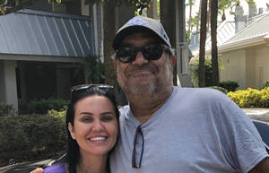 Brunna Martins, left, with Frank Molino.