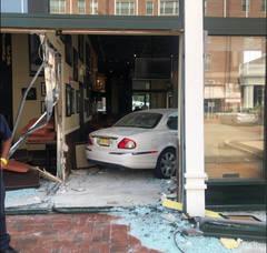 Senior Citizen Crashes Through Windows at Pizza Parlor