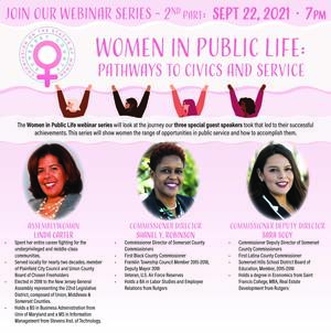 Somerset County Commission on the Status of Women to host free Zoom webinar: 'Women in Public Life Part Two: Pathways to Civics and Service'