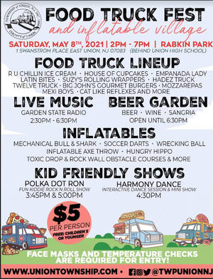 Union's Food Truck and Inflatable Festival Set for Saturday