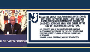 Murphy Announces In-Person Instruction For All NJ Students During 2021-22 Academic Year