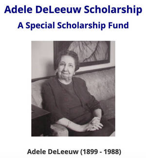 Plainfield Students Can Apply for 2021 Adele DeLeeuw Scholarship