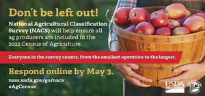 USDA's National Agricultural Classification Survey Is Underway