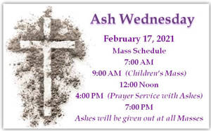 St. James of the Marches in Totowa Ash Wednesday Worship Schedule
