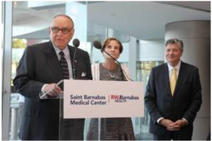 Saint Barnabas Medical Center to be Renamed in Honor of Donor Family