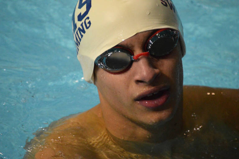 Seth Camacho swam the 100 Butterfly for Westfield.png
