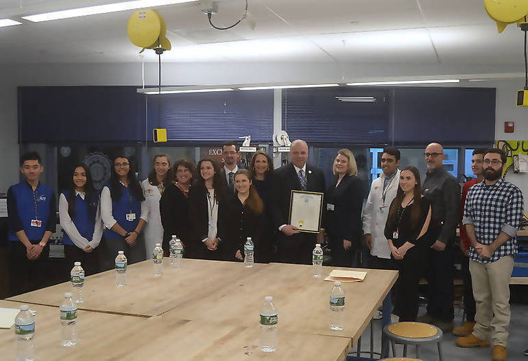 Senator Sweeney with a Proclamation from the New Jersey State Senate.png