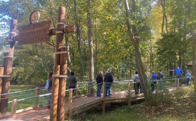 Senior walks Fall sensory trail.jpg