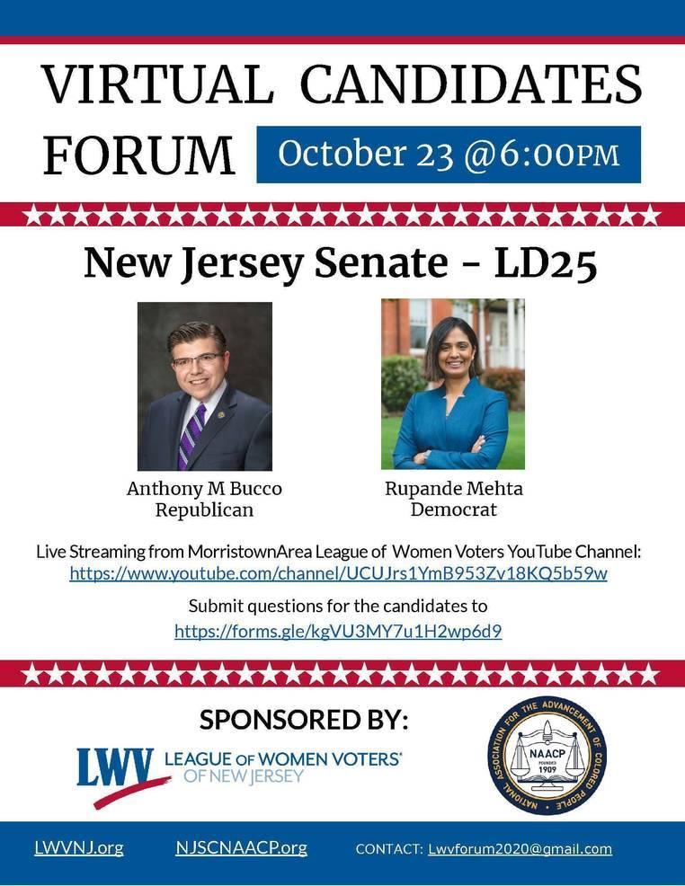Legislative District 25 Senate Candidate Forum