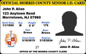Residents Can Obtain a Morris County Senior ID For a Reduced Price