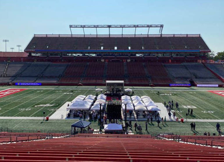 Gov. Phil Murphy presented his 2021 Fiscal Year Budget at Rutgers SHI Stadium on Tuesday, Aug. 25, 2020.