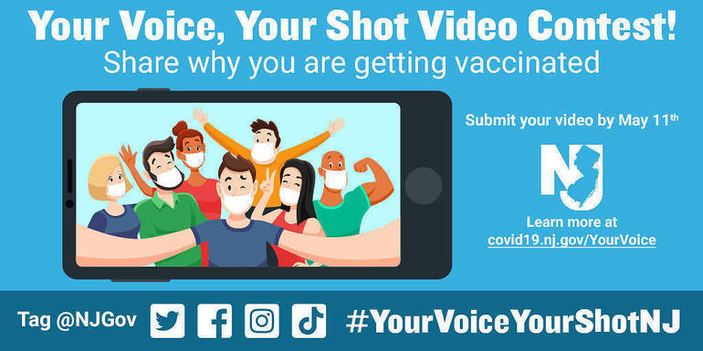 """New Jersey Launches """"Your Voice, Your Shot"""" Video Contest; Submission Deadline: May 11"""