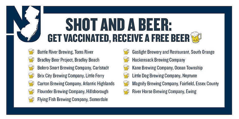 "New Jersey Residents Can Now Get a ""Shot and a Beer"""