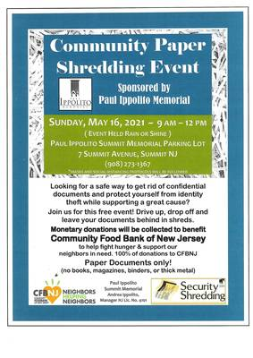 Free Community Paper Shredding Event