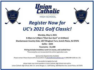 The 30th Union Catholic Golf Classic Is Scheduled For May 3