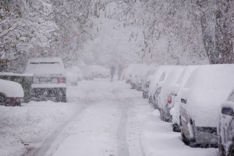 A foot of snow or more is expected in many sections of New Jersey.