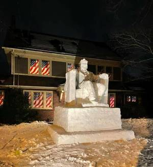 Abe Lincoln Snow Sculpture: What's Behind The Local Creation Drawing Nat'l Attention?