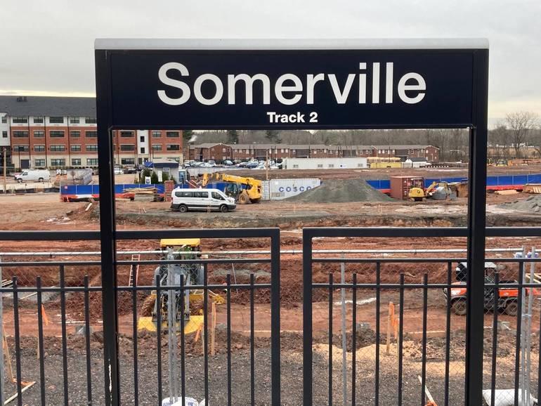Parking Deck Begins to Take Shape Alongside Somerville Train Station