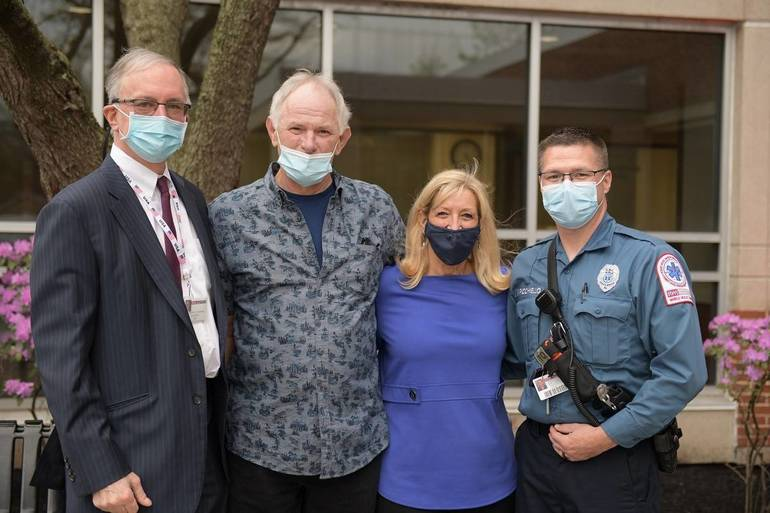 Heart Attack Survivor from Ocean County  Thanks  Physicians, First Responders for Saving His Life