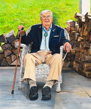 Portrait Honors WWII Aviator and Historic Land Preservation Activist