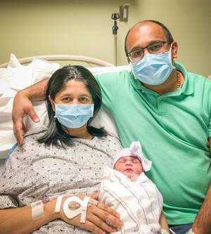First Baby of 2021 Born to Hillsborough Couple at RWJUH/Somerset