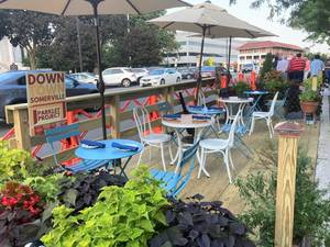 Tighter Restrictions: Al Fresco Dining in Downtown Somerville Resumes