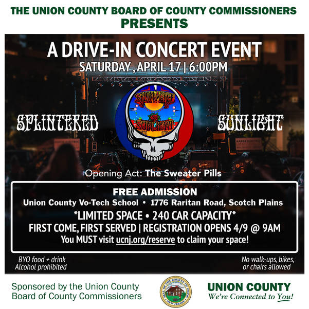 Union County Announces Free Drive-In Concert, April 17