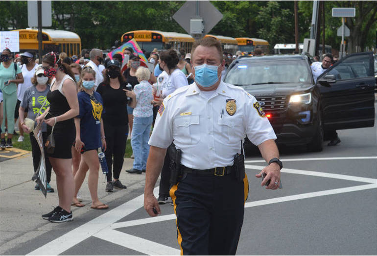Protesting George Floyd's Death, 1,500 March From Scotch Plains to Westfield